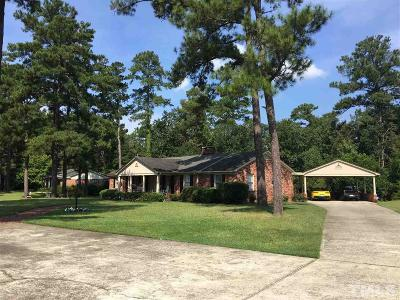 Lillington Single Family Home For Sale: 1000 Hillside Drive