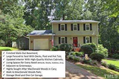 Cary Single Family Home For Sale: 1637 Kildonan Place