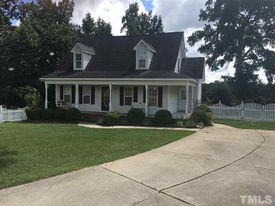 Angier Single Family Home Contingent: 82 Lilly Court