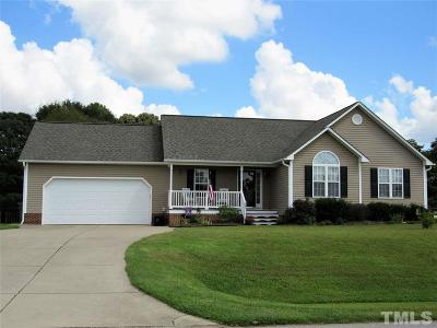 Angier Single Family Home Contingent: 123 Bridle Drive