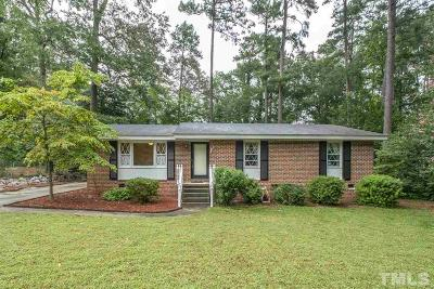 Wake County Single Family Home Contingent: 3709 Lancelot Court