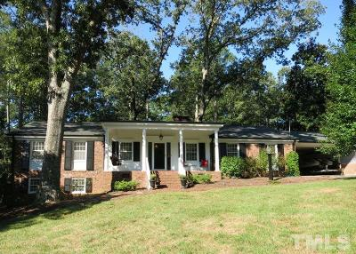 Raleigh Single Family Home Contingent: 5421 Parkwood Drive