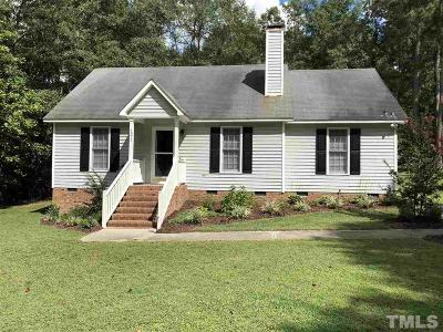 Knightdale Single Family Home Pending: 1217 Amber Acres Lane