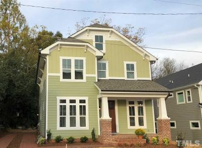 Raleigh Single Family Home For Sale: 613 Watauga Street