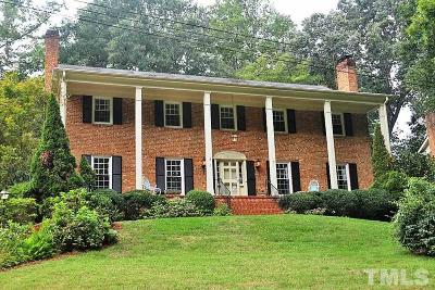 Raleigh Single Family Home For Sale: 3509 Alleghany Street