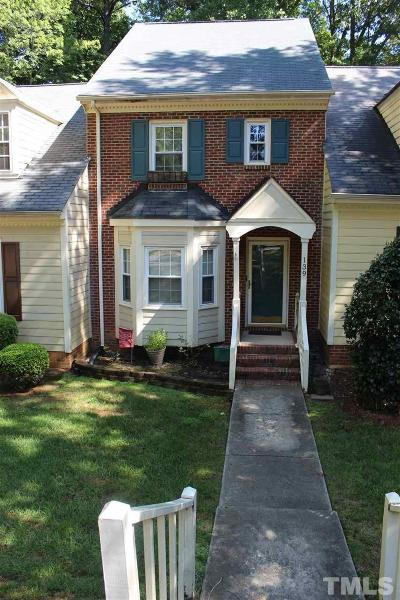 Cary Townhouse For Sale: 139 Hedgerow