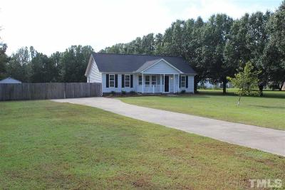 Clayton Single Family Home Pending: 939 Lee Road