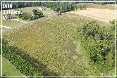 Harnett County Residential Lots & Land For Sale: Lot 6 River Road