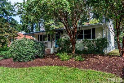 Wake County Single Family Home Contingent: 1212 Brookside Drive