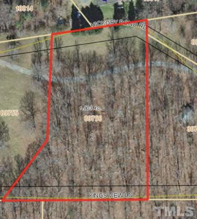 Chapel Hill Residential Lots & Land For Sale: 2 Hickory Pond Road