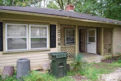 Durham Single Family Home For Sale: 2706 Dearborn Drive