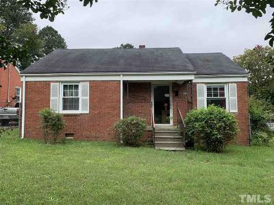 Raleigh NC Single Family Home For Sale: $119,000