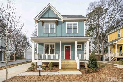 Raleigh Single Family Home For Sale: 1016 Gregg Street