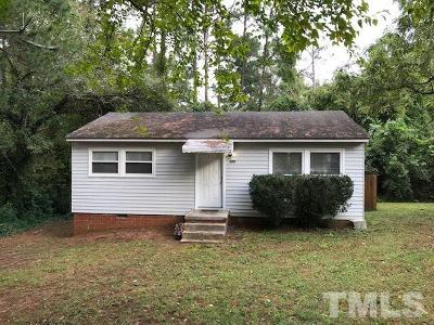 Raleigh NC Single Family Home For Sale: $127,777