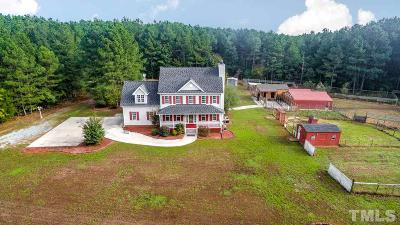Pittsboro Single Family Home For Sale: 1820 Emerson Cook Road