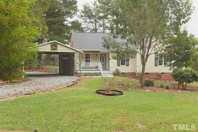 Johnston County Single Family Home Contingent: 100 Shallow Creek Crossing
