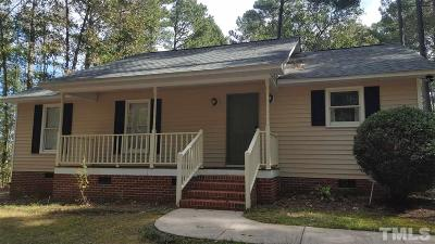 Zebulon Single Family Home Contingent: 120 Fedley Forest Road