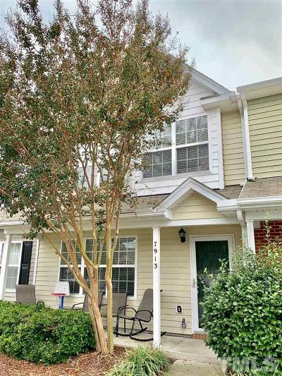 Raleigh Townhouse For Sale: 7913 Averette Hill Drive
