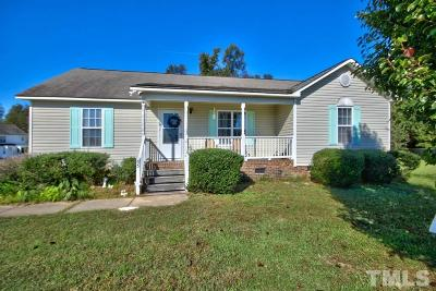 Clayton Single Family Home For Sale: 55 Faircloth Court