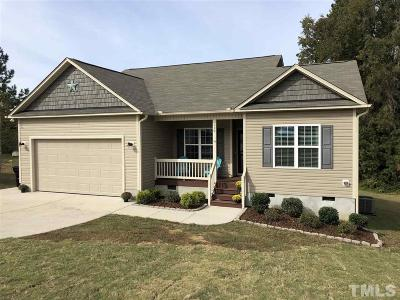 Angier Single Family Home Contingent: 119 Savannah Ridge Court