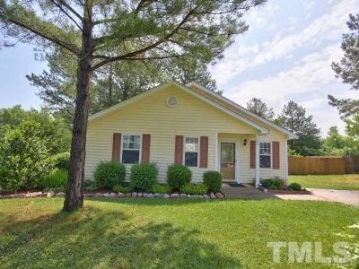 Youngsville Single Family Home Pending: 160 Holding Young Road