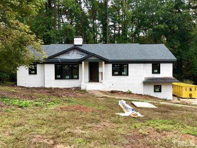 Raleigh Single Family Home Contingent: 3210 Hampton Road