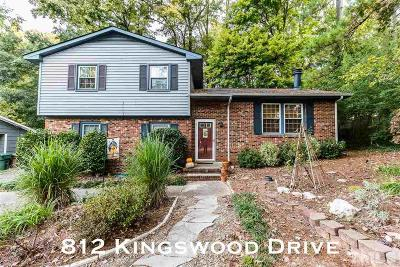Cary Single Family Home Contingent: 812 Kingswood Drive