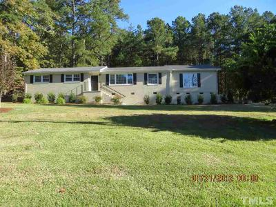 Pittsboro Single Family Home For Sale: 1150 Hamlets Chapel Road