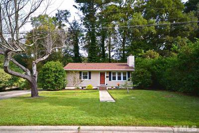 Cary Single Family Home Pending: 508 Morningside Drive