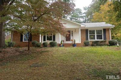 Wake County Single Family Home Contingent: 5940 Wintergreen Drive