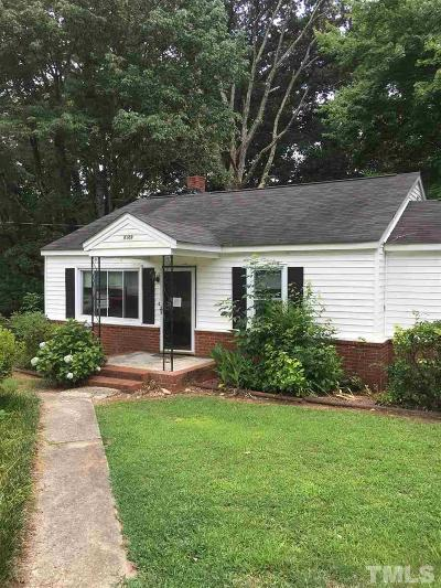 Wake Forest Single Family Home For Sale: 4109 Purnell Road