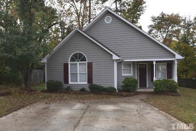 Cary Single Family Home Pending: 106 Korbel Place