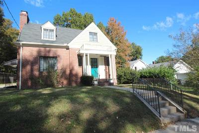 Durham County Single Family Home Contingent: 2316 Englewood Avenue