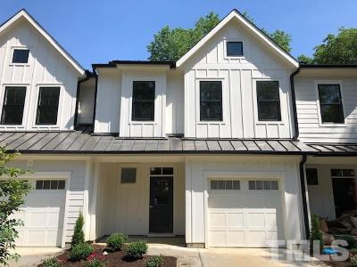 Cary Townhouse For Sale: 520 Wood Street