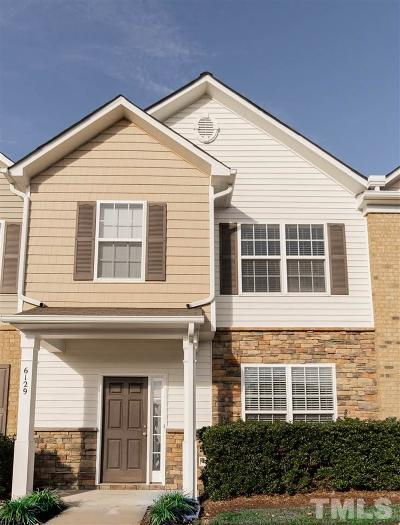 Raleigh Townhouse For Sale: 6129 Neuse Wood Drive