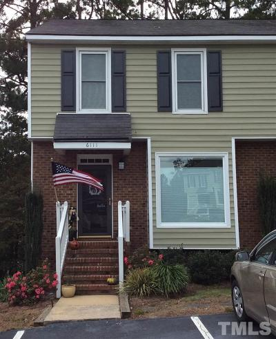 Raleigh Townhouse Contingent: 6111 Highcastle Court