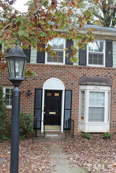 Raleigh Townhouse For Sale: 2912 Wycliff Road