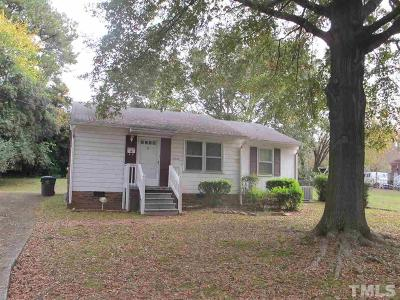 Raleigh NC Single Family Home For Sale: $99,900