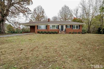 Chatham County Single Family Home For Sale: 3438 Pea Ridge Road