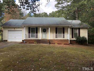 Apex Single Family Home Contingent: 2737 Brantley Drive