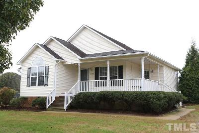 Garner Single Family Home Contingent: 100 Gower Circle