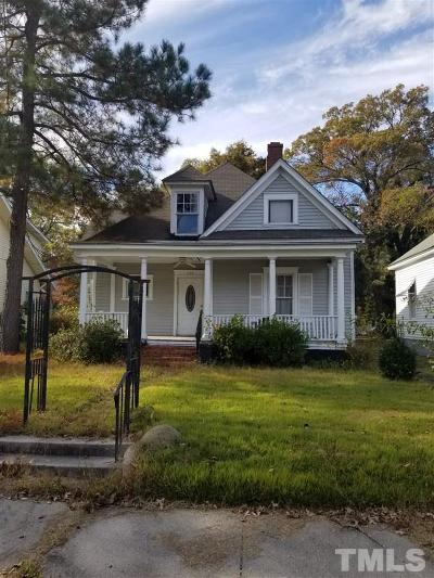 Rocky Mount NC Single Family Home For Sale: $40,000