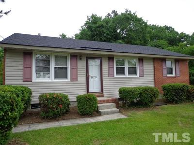 Wake County Rental For Rent: 920 Hadley Road