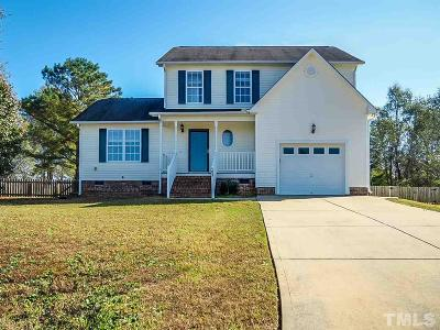 Clayton Single Family Home Pending: 103 Belk Court