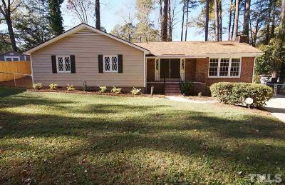 Raleigh NC Single Family Home Contingent: $269,900