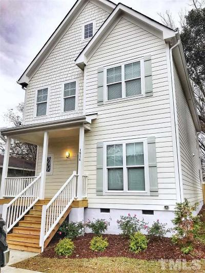 Raleigh Single Family Home For Sale: 1514 E Lane Street