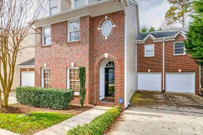 Raleigh Townhouse Contingent: 225 Waterford Park Lane