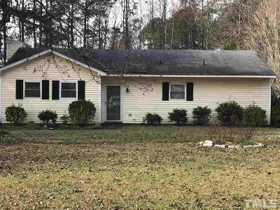 Johnston County Single Family Home Contingent: 107 Old Farm Road