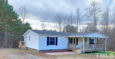 Granville County Manufactured Home For Sale: 1700 Mineral Springs Road