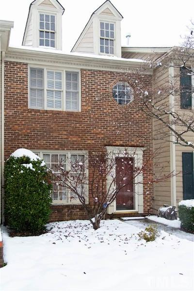 Raleigh NC Townhouse For Sale: $140,000